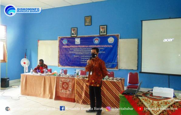 kegiatan Pendampingan Assement Nasional dan Pembelajaran Jarak Jauh tahap II di Kecamatan Jebus