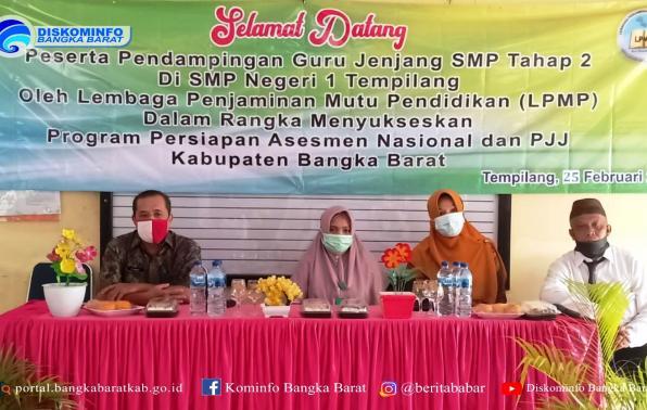 kegiatan Pendampingan Assement Nasional dan Pembelajaran Jarak Jauh tahap II di Kecamatan Tempilang