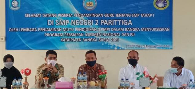 kegiatan Pendampingan Assement Nasional dan Pembelajaran Jarak Jauh tahap II di Kecamatan Parittiga